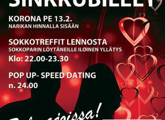 Deittisirkus SINKKUBILEET JÄRVENPÄÄSSÄ PERJANTAI 13.2. KORONA!!