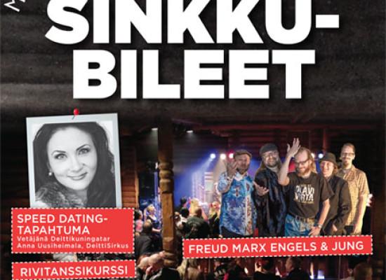 """Bomballa 17.-18.10. """"Suomen siisteimmät Sinkkubileet"""", Deittisirkus mukana tapahtumassa"""