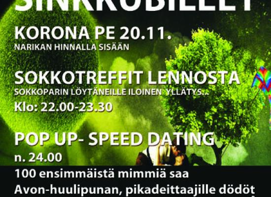 Deittisirkus Sinkkubileet Järvenpää Korona pe 20.11.