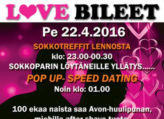 Deittisirkus LOVE BILEET Raahessa pe 22.4. (Club Flirt)
