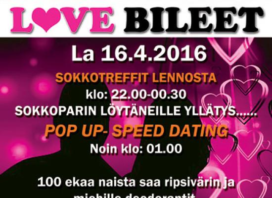 HELSINGISSÄ DEITTISIRKUS LOVE BILEET LA 16.4. (Amarillo)