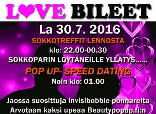 Helsinki -Amarillo la 30.7. Deittisirkus LOVE BILEET