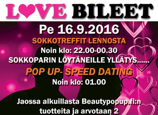 Kuopion Puikkarissa pe 16.9. Deittisirkus LOVE BILEET