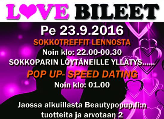 Joensuun Bepopissa pe 23.9. Deittisirkus LOVE BILEET