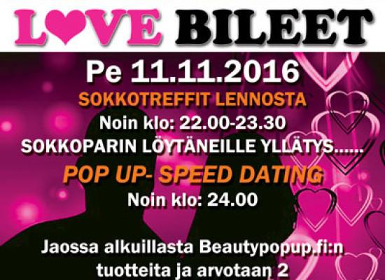 Järvenpään Koronassa Deittisirkus LOVE BILEET pe 11.11.