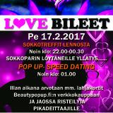 Deittisirkus LOVE BILEET – Joensuu, Bepop pe 17.2.