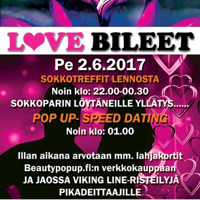 Seinäjoella Deittisirkus LOVE BILEET pe 2.6. (Ravintola Karma)
