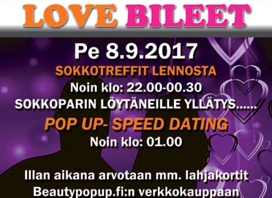 Joensuussa Deittisirkus LOVE BILEET pe 8.9. (Bepop)