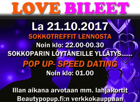Rovaniemellä Deittisirkus LOVE BILEET la 21.10. (Yökerho Doris)