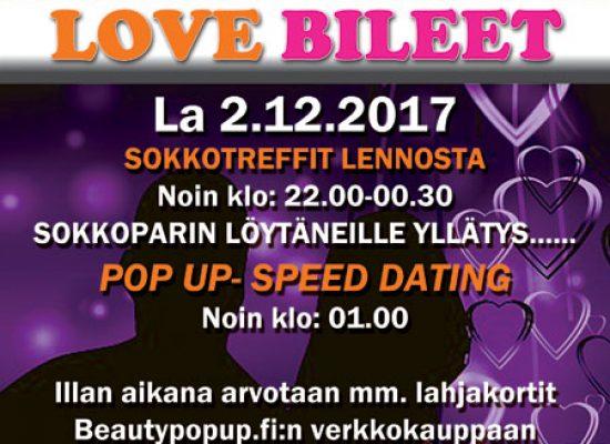 KAJAANI -Deittisirkus LOVE BILEET la 2.12. (Peeveebar)