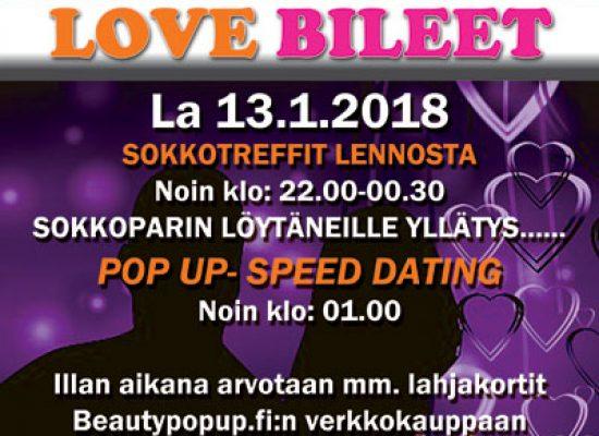 Jyväskylässä Deittisirkus LOVE BILEET la 13.1.2018 (Hemingway`s)