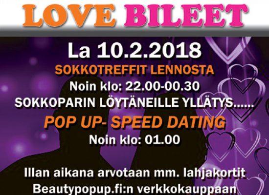 Kuhmossa Deittisirkus LOVE BILEET la 10.2.2018 (Hotelli Kainuu/Villiruusu)