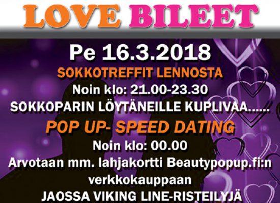 Jyväskylässä Deittisirkus LOVE BILEET pe 16.3.2018 (Hemingway`s)