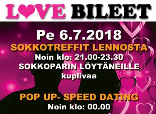 Kutujuhlat/Deittisirkus LOVE BILEET Viihdekeskus hojo hojossa pe 6.7.2018