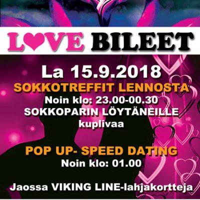 Deittisirkus LOVE BILEET Raumalla DOMINOSSA la 15.9.2018