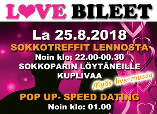 Deittisirkus LOVE BILEET Järvenpäässä EIKAN PUBISSA la 25.8.2018