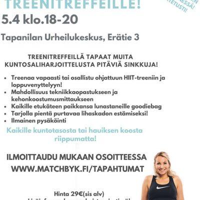 Treenitreffit 5.4.2019 Tapanilan Urheilukeskuksessa (Ennakkoilmoittautumiset)