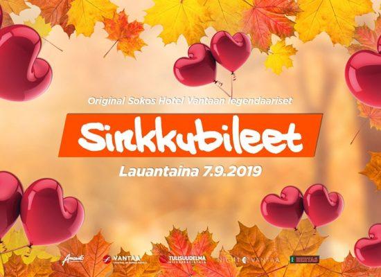 Legendaariset Sinkkubileet 7.9.2019 Tulisuudelma, yhteistyössä Deittisirkus