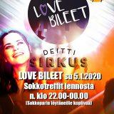 Love Bileet Joensuun Bepopissa su 5.1.2020