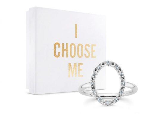 """""""I Choose Me"""" by Emilia Vuorisalmi on timanttisormus, joka on muistutus rakkaudesta sinua itseäsi kohtaan."""